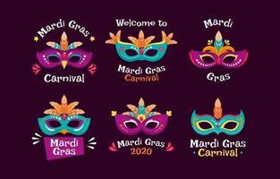 différents types de masques pour célébrer le mardi gras vecteur