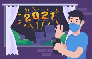 Célébration 2021 à domicile vecteur