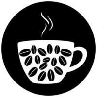 tasse isolée de logo de café sur fond blanc