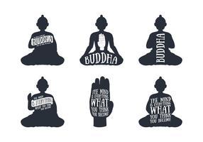 Vecteurs Handdrawn de Bouddha
