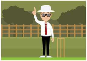 Vector de personnage gratuit de l'arbitre de cricket