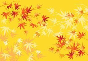 Arbre d'érable japonais d'automne ou d'automne et fond de feuilles vecteur