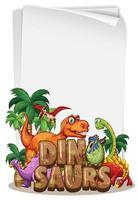 un modèle de bannière de dinosaure sur fond blanc