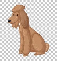 flaque marron en position assise personnage de dessin animé isolé sur fond transparent