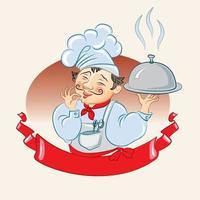 cuisinier. isolé sur fond blanc vecteur