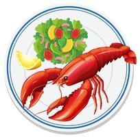 vue aérienne de la salade de homard