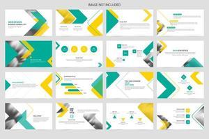 modèle de présentation de diapositives minimal vecteur