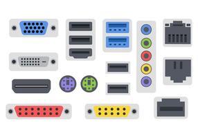 Vecteur d'icônes de ports gratuits