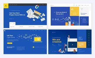 ensemble de modèles de conception de pages Web