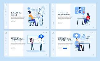 modèles de conception de pages Web sur la médecine et la santé