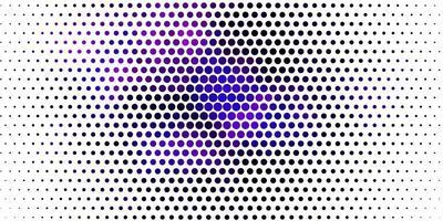 mise en page violette avec des formes de cercle.
