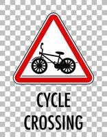 signe de passage à vélo isolé fond transparent