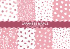 Motifs d'érable japonais vecteur