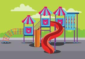 Aire de jeux pour enfants moderne dans la gymnastique du parc ou de la jungle