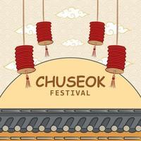 célébration du festival de chuseok vecteur