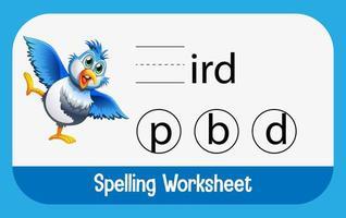 trouver la lettre manquante avec un oiseau