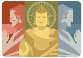 Trois éléments du vecteur de Bouddha