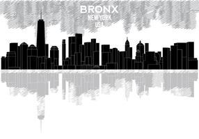 Bronx silhouette de l'horizon vecteur