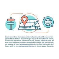 concept de recherche de direction et d'itinéraire
