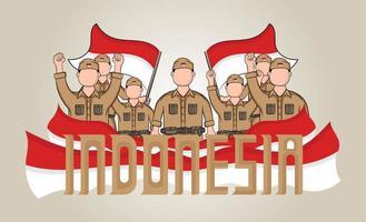 bannière de la fête de l'indépendance de l'indonésie