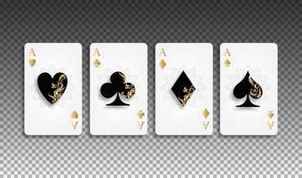 ensemble de cartes de poker. vecteur