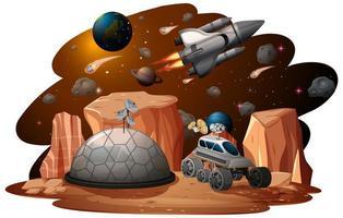 un fond de scène spatiale
