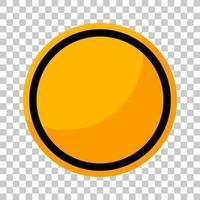 panneau de signalisation jaune vide sur fond transparent vecteur