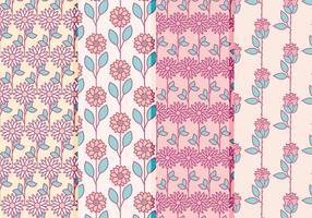 Collection de motifs floraux vectoriels vecteur