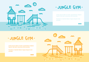 Jungle Gym Vector Backgrounds