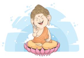 Buddah Illustration Vectorisée vecteur