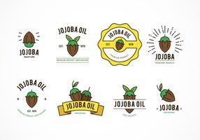 Vecteur badges jojoba