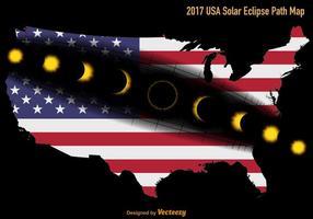 Vecteur nous carte d'itinéraire d'éclipse solaire