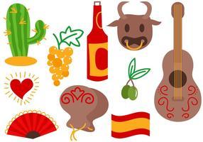 Vecteurs libres d'Espagne vecteur