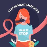 aider à prévenir la traite des êtres humains et à protéger les droits humains vecteur