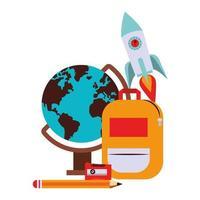 retour aux dessins animés d & # 39; éducation scolaire