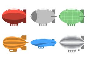 Vecteur dirigible plat