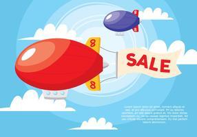 Affiche de vente Zeppelin vecteur