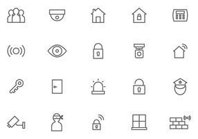 Vecteurs de surveillance de voisinage gratuits vecteur