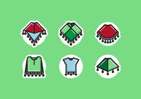 Paquet vectoriel gratuit poncho
