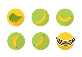 Icônes de plantain Free Vector Pack