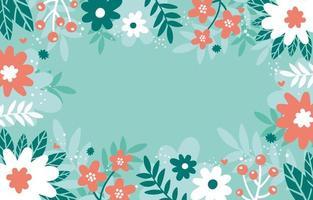 fond floral plat menthe vecteur