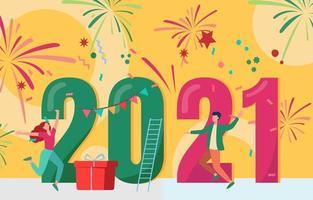 Célébration du nouvel an 2021