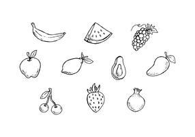 Vecteur d'icônes de croquis de fruits gratuits