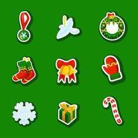 pack d'icônes de Noël vecteur