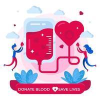 concept de programme de don de sang vecteur