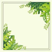 fond floral avec une couleur verte fraîche vecteur