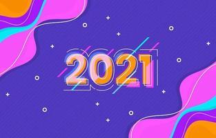 abstrait coloré bonne année 2021