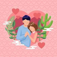 amour couple valentine vecteur