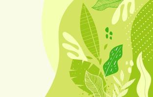 fond vert floral nature vecteur