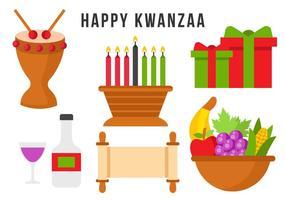 Vecteur d'élément heureux libre de kwanzaa